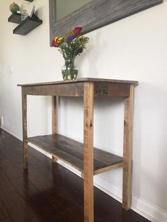 Reclaimed Hallway Table by PipeandPalletDesigns on Etsy