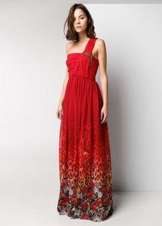 Vestido comprido dégradé