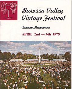 Barossa Vintage Festival program cover - 1975.