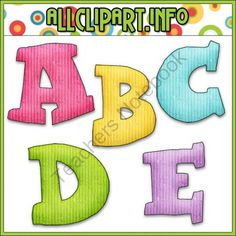 Birthday Party Owls Alphas from AllClipART on TeachersNotebook.com -  (1 page)  - Birthday Party Owls Alphas - 26 textured letters in teal, pink, purple, yellow and green. Alphas included are: A - Z in upper case.