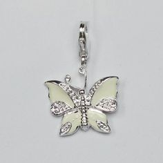 Western Butterfly-shaped Pendant with Lobster Clasp