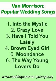 Van Morrison Popular Wedding Songs