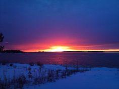 Sunset over Kalix archipelago