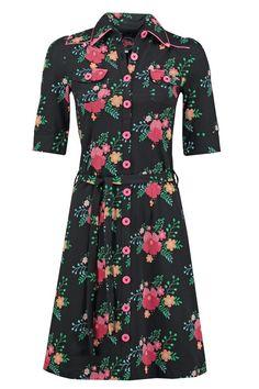 Dress Betsy Poppy Black -Tante Betsy.com
