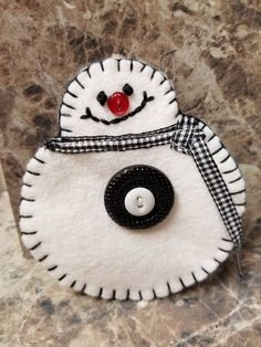 Snowman Ornament by auntieshandmade on Etsy https://www.etsy.com/listing/550630966/snowman-ornament