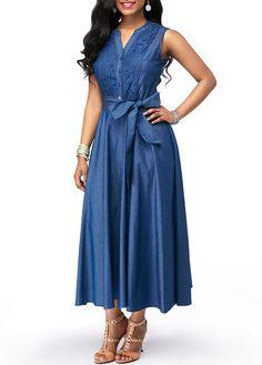 Dresses For Women Simple Dresses, Sexy Dresses, Dresses For Sale, Casual Dresses, Blue Dresses, Denim Fashion, Womens Fashion, Club Party Dresses, Maid Dress