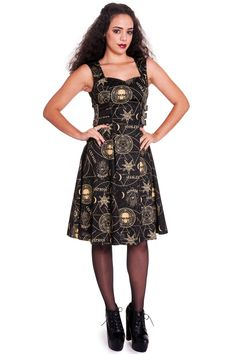 dámské šaty značky HELL BUNNY Složení  vrchní materiál  98% bavlna c1fe95da38