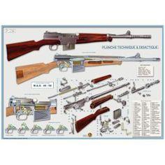 Mas 49/56 : Fusil Poster Technique Et Didactique