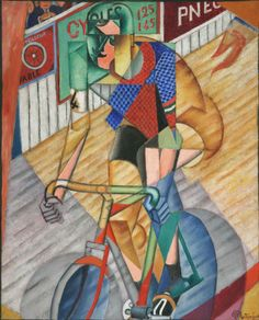Jean Metzinger, Il corridore/Racing Cyclist (Coureur cycliste), 1912, Oil on canvas with sand, 100 x 81 cm, Private collection, © Jean Metzinger, by SIAE 2012.