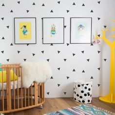 Black Triangles Wall Decals - V&C Designs Ltd - 1