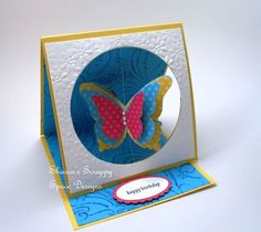 Butterfly Spinner Card with Watermark