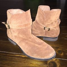 Sam Edelman boots Super cute suede boots with straps Sam Edelman Shoes Ankle Boots & Booties