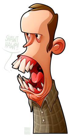 Big Mouth Dan by ~MathieuBeaulieu on deviantART