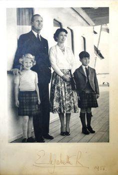 Prince Philip Duke of Edinburgh, Queen Elizabeth II, Prince Charles Prince of Wales, Princess Anne Princess Royal