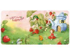 Selbstklebendes Wandbild Erdbeerinchen Erdbeerfee - Im Garten