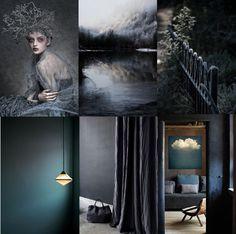 Un tableau d'inspiration sombre et dense, mais avec une pointe de lumière. J'aime les ambiances lumineuses et claires, mais ces images ...