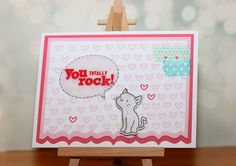 "maikreations: ""You totally rock!"" Using stamps from Mama Elephant and Simon Says Stamp."
