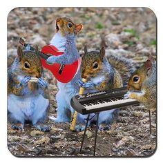 Unique Squirrelettes Band drinks coaster by Simon