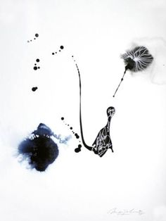 "Saatchi Art Artist Marijah Bac Cam; Drawing, ""Dandelion"" #art"
