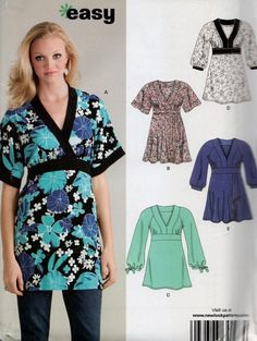 Misses Top Sewing Pattern - EASY Tops in 7 Sizes including PLUS SIZE