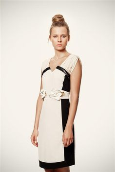 Black and Ivory Formal Bow Bliss Dress with Black by VandaFashion, $50.00