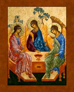 Trinity Icon, 18 x 24 inches, egg tempera and gold.