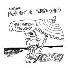 Vauro (2017-07-07)  Migranti - Il Fatto Quotidiano, 08/07/2017