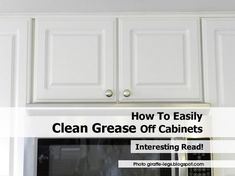 Even when cleaning cabinets twice a month, grease can be too tough to wipe away. Try these tricks for how to remove grease from kitchen cabinets instead.