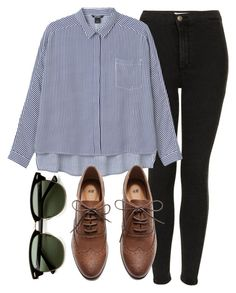 """Untitled #4326"" by laurenmboot ❤ liked on Polyvore featuring Topshop, Monki, Ray-Ban and H&M"