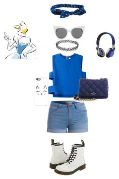 """""""Untitled #88"""" by jamiecollins127 on Polyvore featuring Novis, Pieces, Dr. Martens, Aéropostale, Kate Spade, Casetify, Jabra and Blanc & Eclare"""