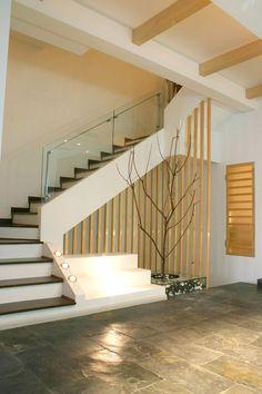 Westwood, Minimalist Zen Interior Design Condominium. Exterior Design, Interior And Exterior, Staircase Architecture, Zen Interiors, Condominium, Stairs, Minimalist, Board, House