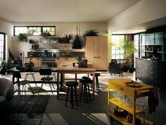 contemporary kitchens for large and small spaces | kitchen designs, Hause ideen