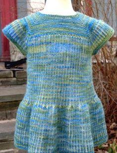 Springtime Brioche Baby Dress -- free pattern