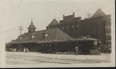HISTORIC PIC - Traveling to and from Grand Island didn't always look the way it does today.  This ca. 1913 photo features the Grand Island Union Pacific Railroad Depot. The depot was completed in 1892 on West South Front Street. The brick structure in the background is the Koehler Hotel.  Men and women are gathered at the station ready to leave for their destination or greet travelers. The depot and railroad played an important role in their lives.  For more history of the Union Pacific…