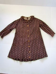 1890″s Child's Calico Dress, all hand sewn