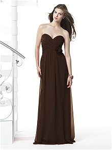Dessy Collection Style 2832 #brown #bridesmaid #dress