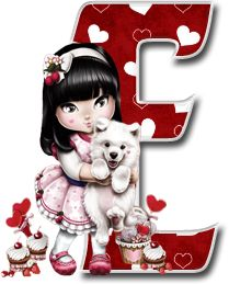 Oh my Alfabetos!: Alfabeto Tilibra Jolie cargando a un perrito. Decorative Alphabet Letters, Cute Alphabet, Alphabet Crafts, Alphabet And Numbers, Monogram Letters, Scrapbook Letters, Minnie Png, Decoupage Vintage, Boy Doll