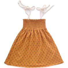 051f01bbf5e0 Tulips Jersey Sun Dress in Ochre by Oeuf NYC – Junior Edition  #junioredition.com