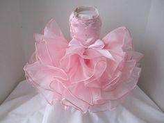 Rosa rosa princesa perro vestido con por NinasCoutureCloset en Etsy