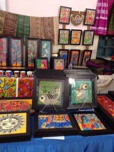 Madhubani (Mithila) Paintings by Vidushini on display at Bangalore's biggest handmade event called The Handmade Collective, currently on till December 7 at St. Madhubani Art, Madhubani Painting, Ceiling Painting, December 7, Art Sketchbook, Asian Art, Folk Art, Diy Home Decor, Arts And Crafts