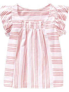 Old Navy | Flutter-Sleeve Smocked Tees for Baby