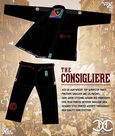 The Consigliere by CTRL Industries USD169.99 Karate Gi, Bjj Gear, Jiu Jitsu Gi, Martial Arts, Fashion Design, Clothes, Style, Kimonos, Outfits