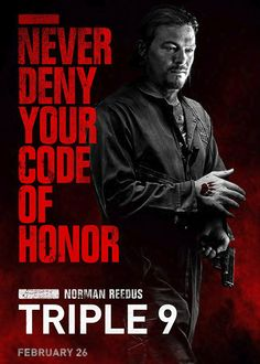 Norman Reedus' 'Triple 9' Character Poster