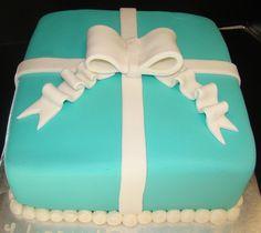 Fondant Tiffany Box cake The Scottsdale Bakery