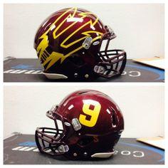 Arizona State unveils slick new maroon helmets