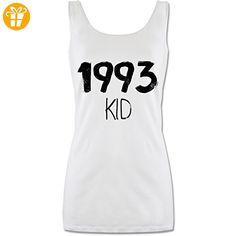 Geburtstag - 1993 KID - M - Weiß - P72 - lang-geschnittenes Tanktop für Damen - Shirts zum geburtstag (*Partner-Link)
