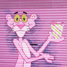 PINK PANTHER GRAFITTI!  #pinkpanther #amazingart #instacool #inspiration #picoftheday #creativity #creative #design #instaart #instaartist #artoftheday #artsy #art #artistic #bestoftheday #best #pink  #instagood #graffiti #instadaily #instamood #love #photooftheday #beautiful #happy #fun #instapic #illustration #imagination #london