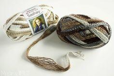 Muslin and Merlot: DIY Easy Ruffle Yarn Necklace!