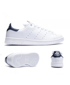 quality design 6584a c7969 Adidas Originals Stan Smith White And Navy Trainers Sale UK