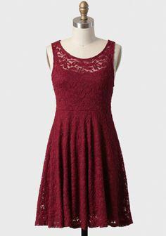 true desire lace dress in burgundy at ShopRuche.com